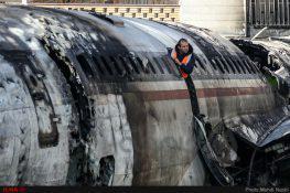 عکس  سقوط هواپیمای باربری بوئینگ ۷۰۷ در کرج
