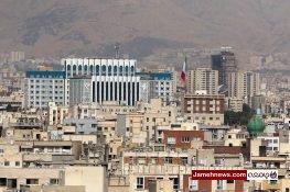 عکس| تهران از پنجره دفتر رئیس سازمان برنامه و بودجه کشور