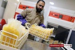 عکس| 30 دقیقه در سازمان انتقال خون تهران