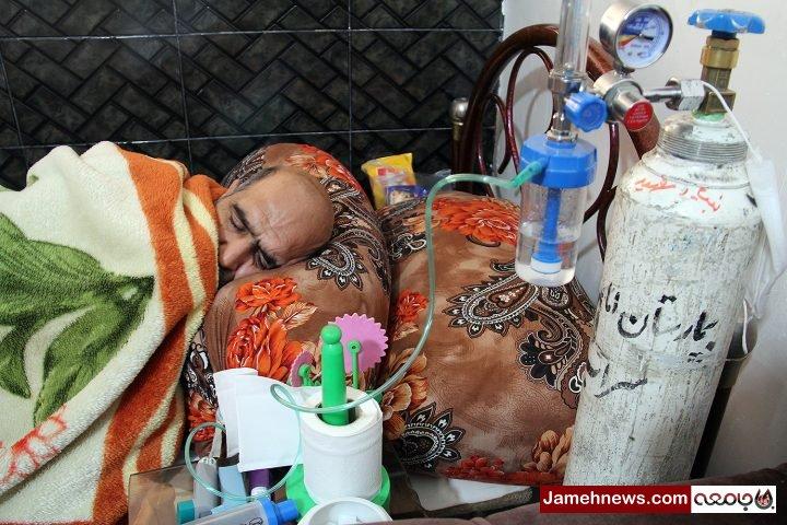 عکس| روزگار سخت یک جانباز شیمیایی پشت زندان قزلحصار