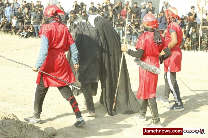 عکس  برگزاری مراسم تعزیه در مناطق سیل زده روستای امین آباد آق قلا