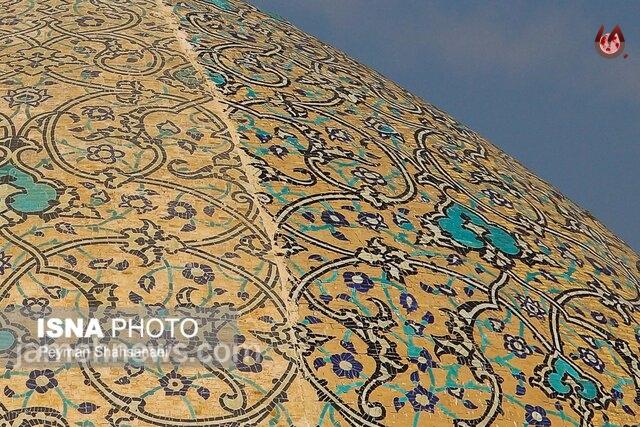 فاجعه ملی در گنبد مسجد شیخ لطف الله| می گویندفوتوشاپ است!