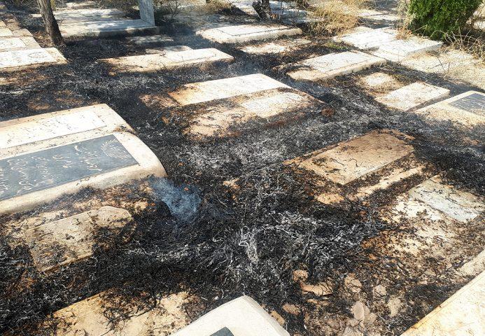 فیلم| آتش سوزی در مزار «تختی»| مردگان ابن بابویه کباب شدند!