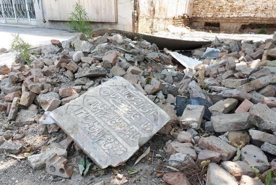 عکس| شخم زدن قبور و تخریب مقبره های تاریخی در «امامزاده عبدالله» شهرری