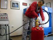 شارژ کردن کپسول آتش نشانی