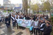 خیابان ولیعصر(عج) داوطلبانه پاکسازی شد