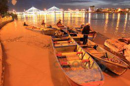 عکس  پل اهواز و رودخانه کارون در روزهای بارانی فروردین98